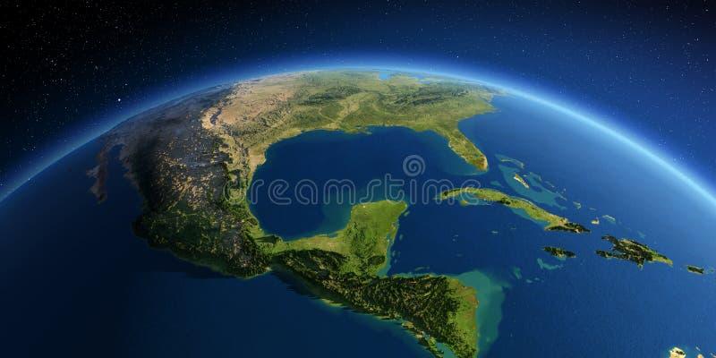 Tierra detallada Correspondencias de im?genes de la NASA Golfo de M?xico ilustración del vector