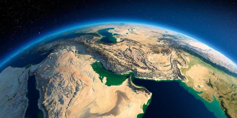 Tierra detallada Golfo P?rsico libre illustration