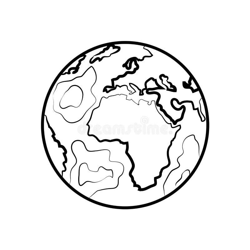 Tierra dibujada mano del bosquejo stock de ilustración