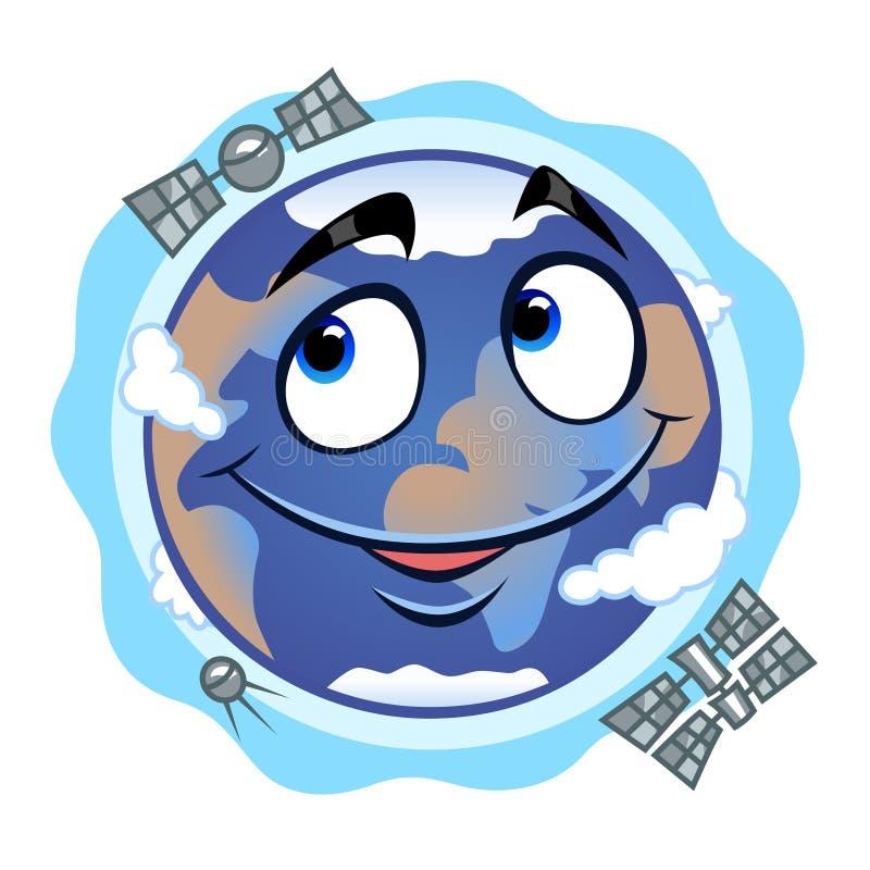 Download Tierra divertida ilustración del vector. Ilustración de globo - 42431345