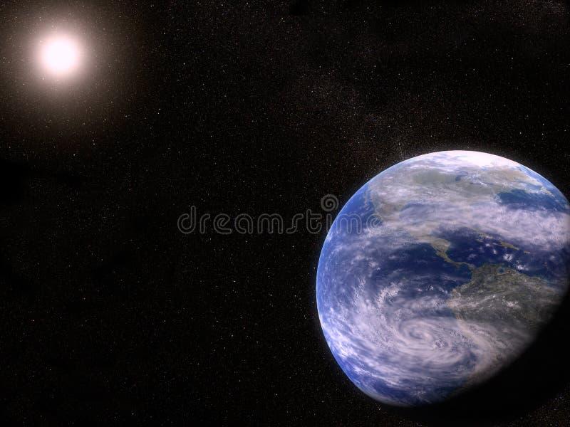 Tierra en el universo ilustración del vector