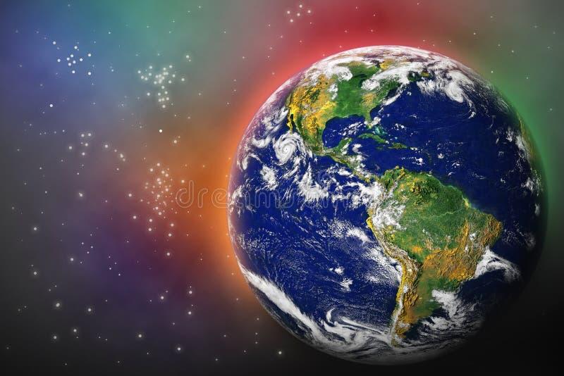 Tierra en espacio fotografía de archivo