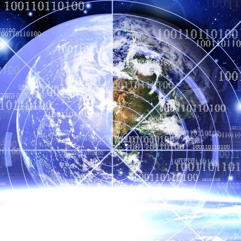 Tierra en espacio stock de ilustración