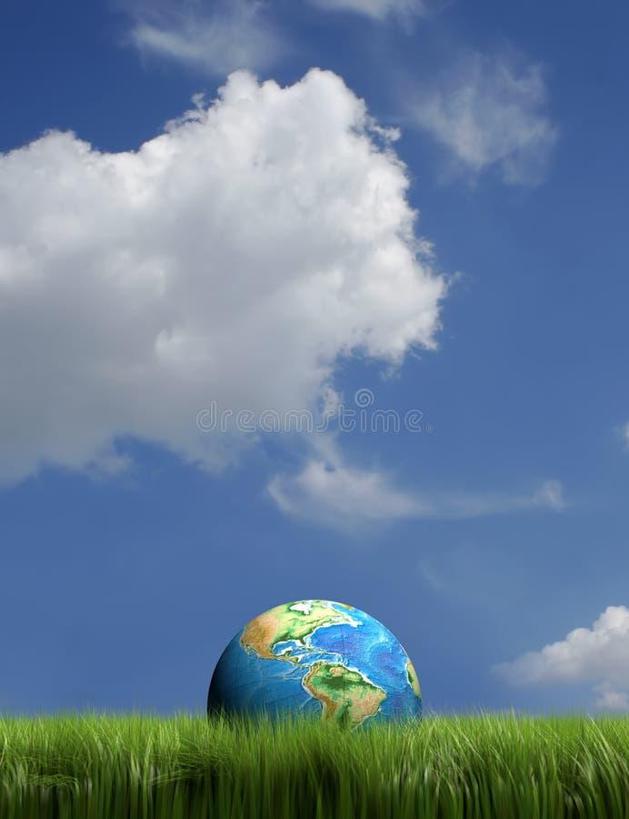 Tierra en hierba ilustración del vector