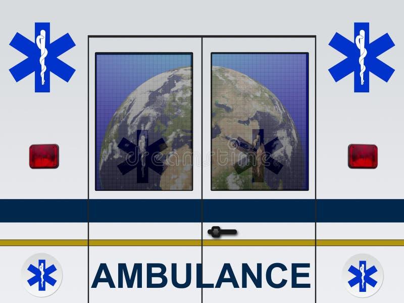 Tierra en la ambulancia imagenes de archivo