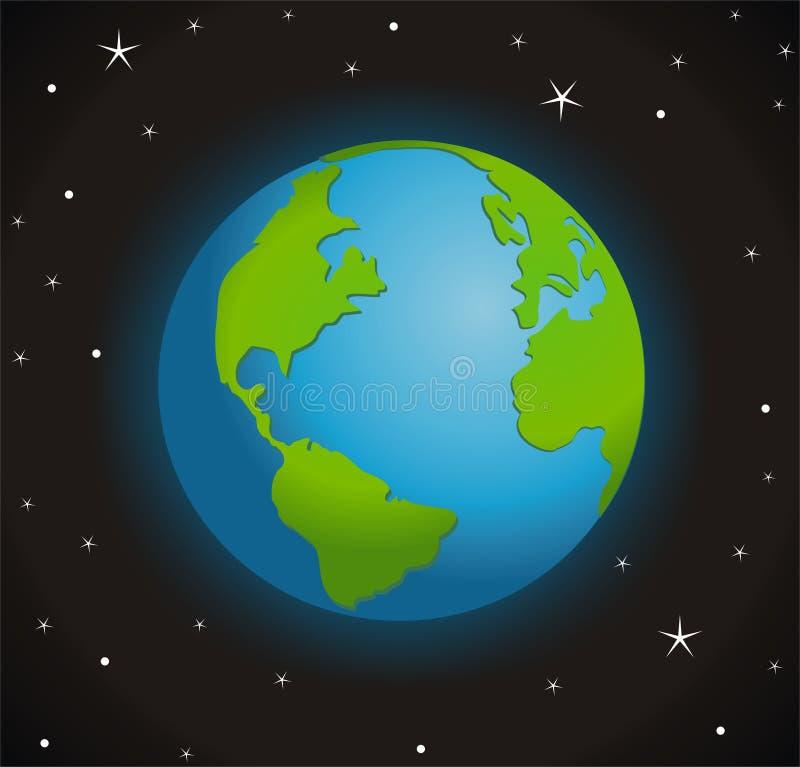 Tierra en la noche libre illustration