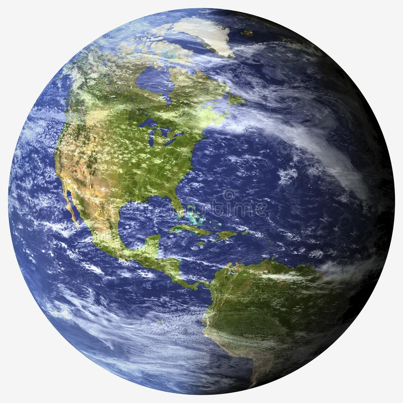 Tierra fotorrealista del planeta - png ilustración del vector