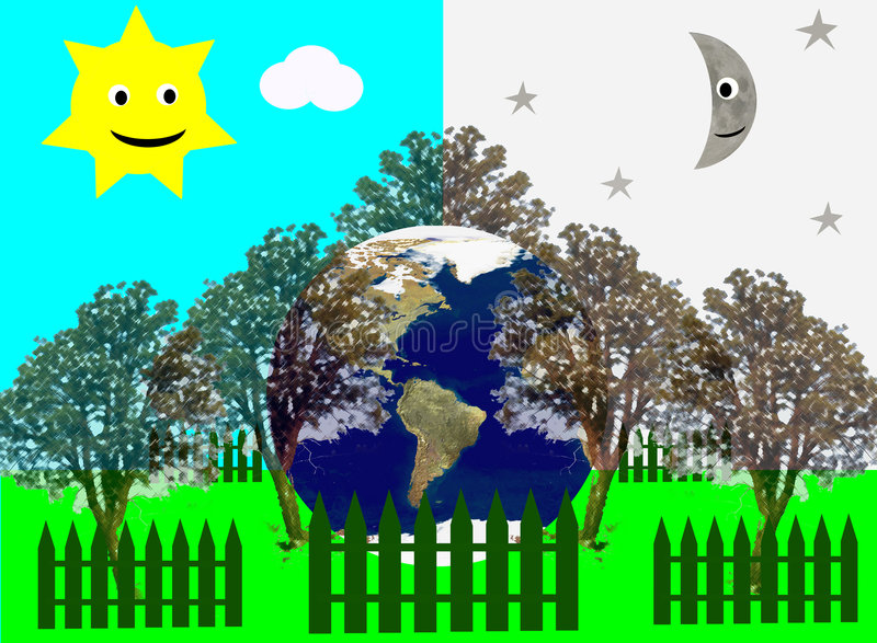 Tierra hermosa libre illustration