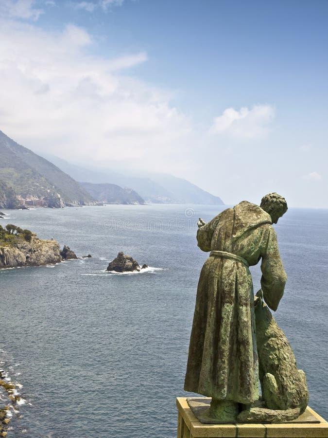 Tierra Italia del cinque de la estatua de San Francisco imagen de archivo libre de regalías