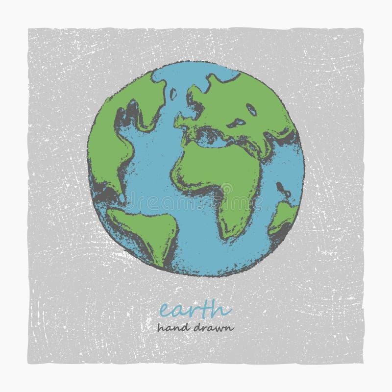 Tierra. Mano dibujada. Vector eps8 libre illustration