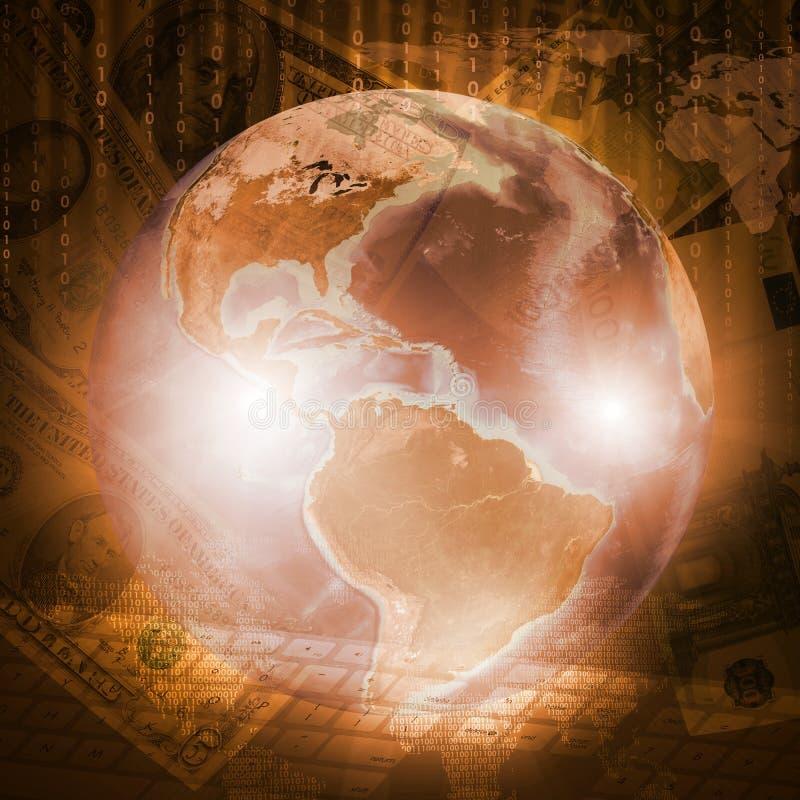 Download Tierra, Mapa Del Mundo Y Teclado En Fondo Del Dinero Stock de ilustración - Ilustración de global, dólar: 42425510