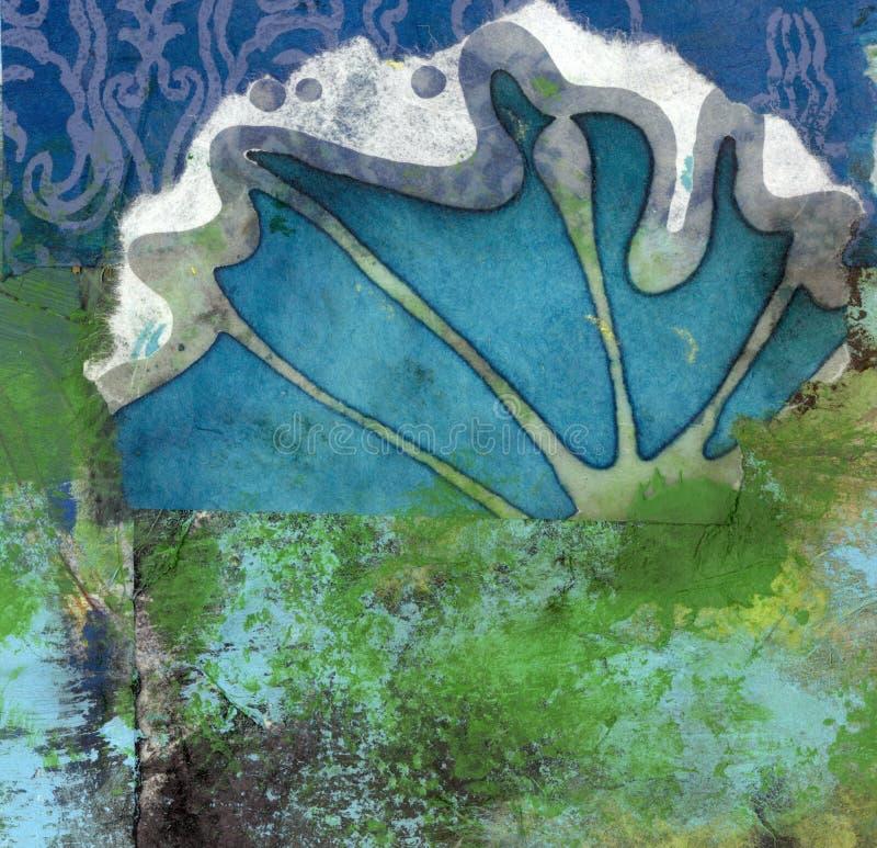 Tierra, mar, cielo ilustración del vector