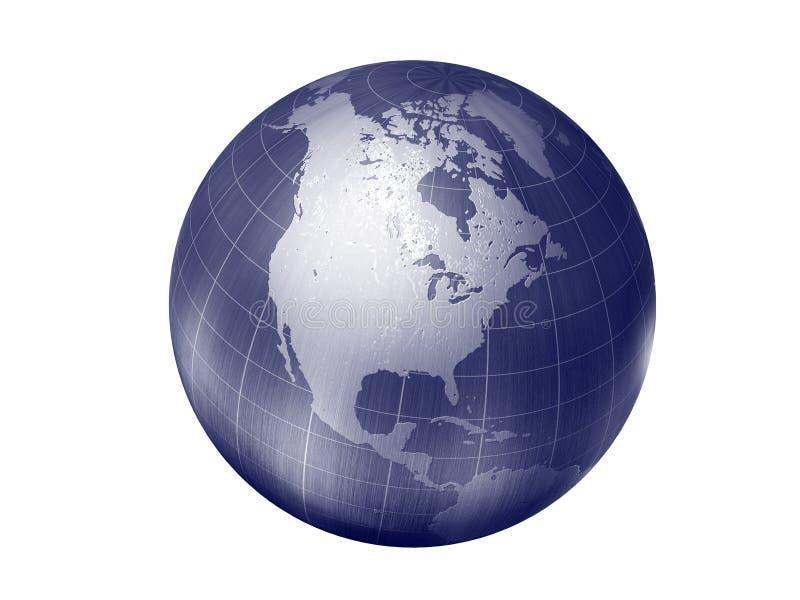 Tierra - Norteamérica ilustración del vector