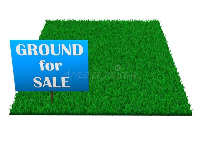 Tierra para la venta stock de ilustración