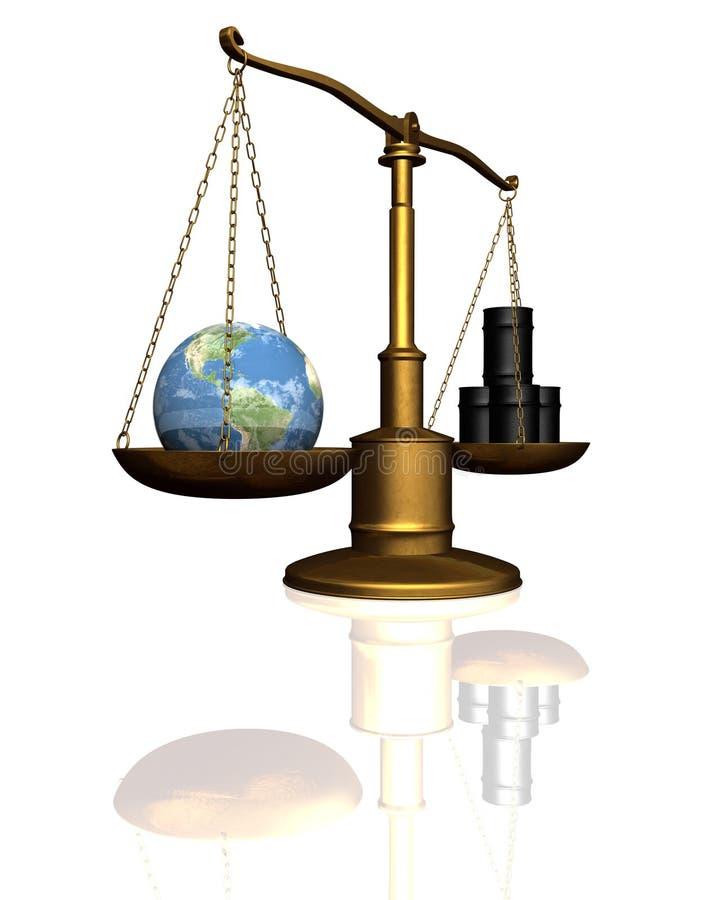 Tierra-petróleo en blanco stock de ilustración