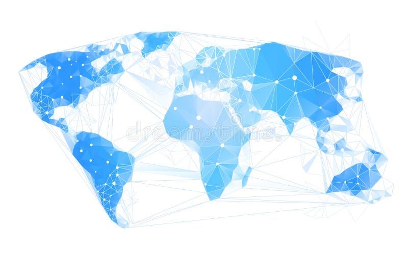 Tierra poligonal geométrica abstracta del mapa del mundo libre illustration