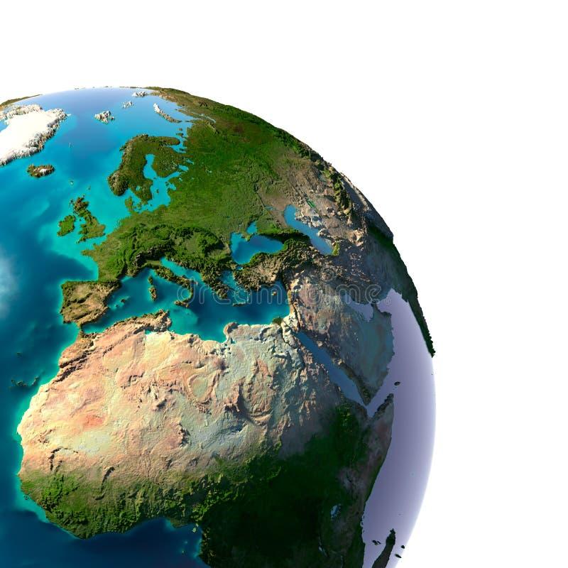 Tierra realista del planeta stock de ilustración