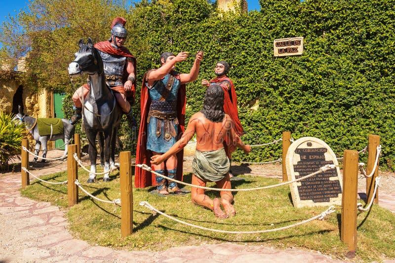 Tierra Santa is een themapark, is zijn familienaam 'Jeruzalem in Buenos aires ' stock fotografie