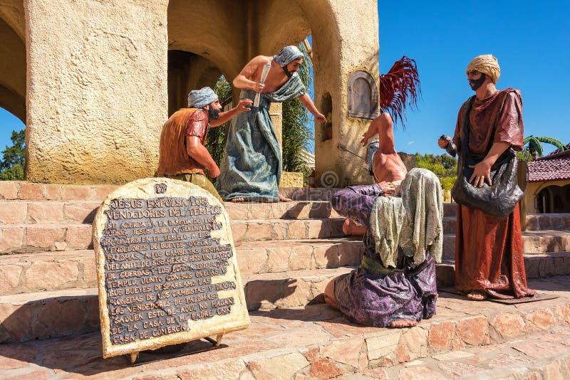 Tierra Santa is een themapark, is zijn familienaam 'Jeruzalem in Buenos aires ' royalty-vrije stock afbeeldingen