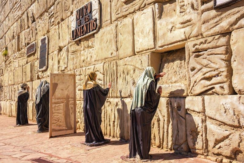Tierra Santa is een themapark, is zijn familienaam 'Jeruzalem in Buenos aires ' royalty-vrije stock foto