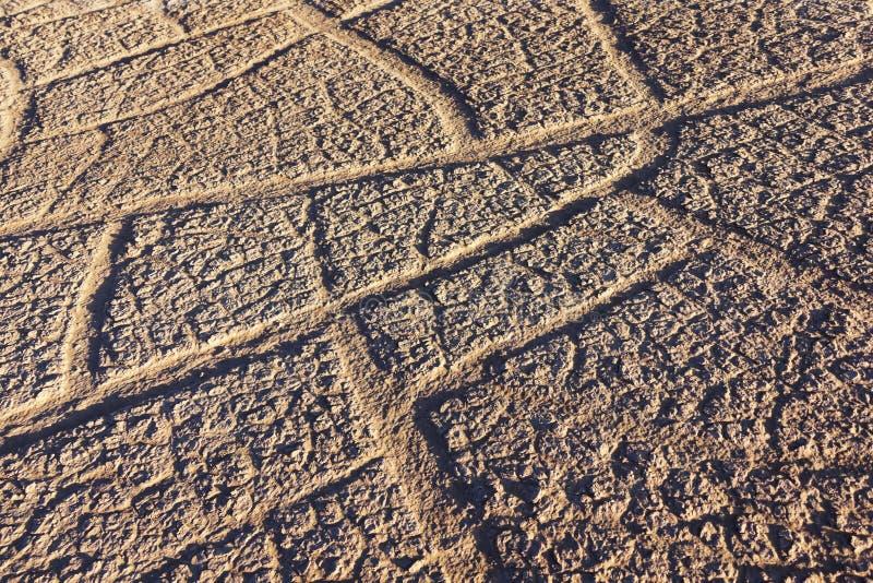 Tierra seca en el desierto del Sáhara. imagen de archivo