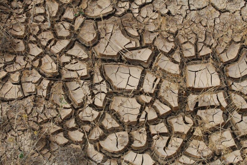 Tierra seca, suelo agrietado imagen de archivo libre de regalías