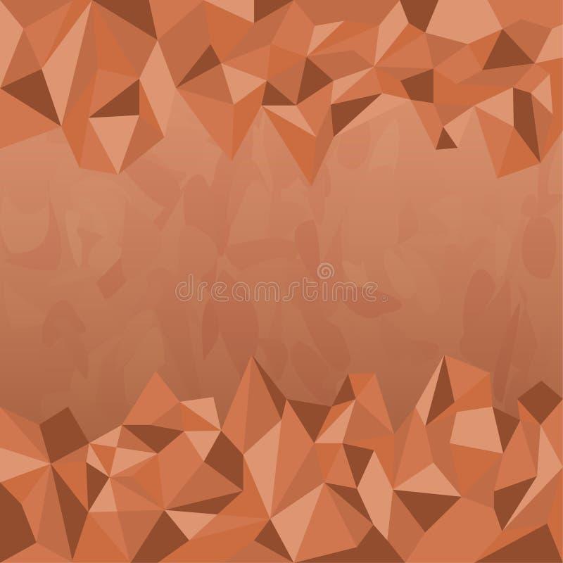 Tierra Tone Background del polígono stock de ilustración