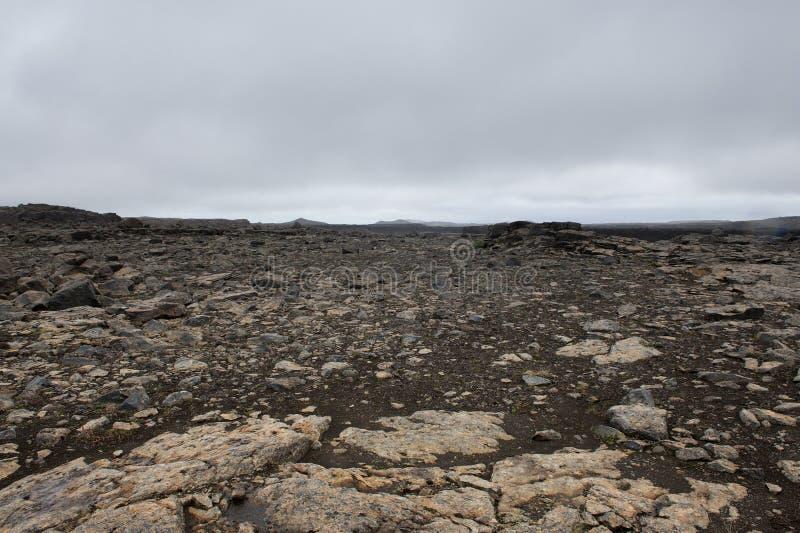 Tierra vacía y muerta, como de otro planeta, Islandia fotos de archivo