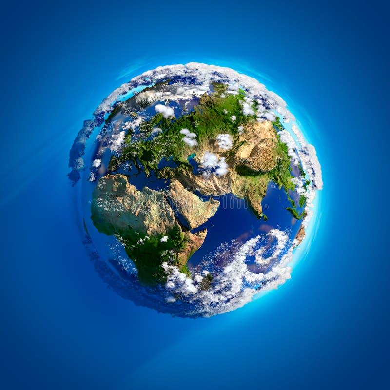 Tierra verdadera con la atmósfera ilustración del vector