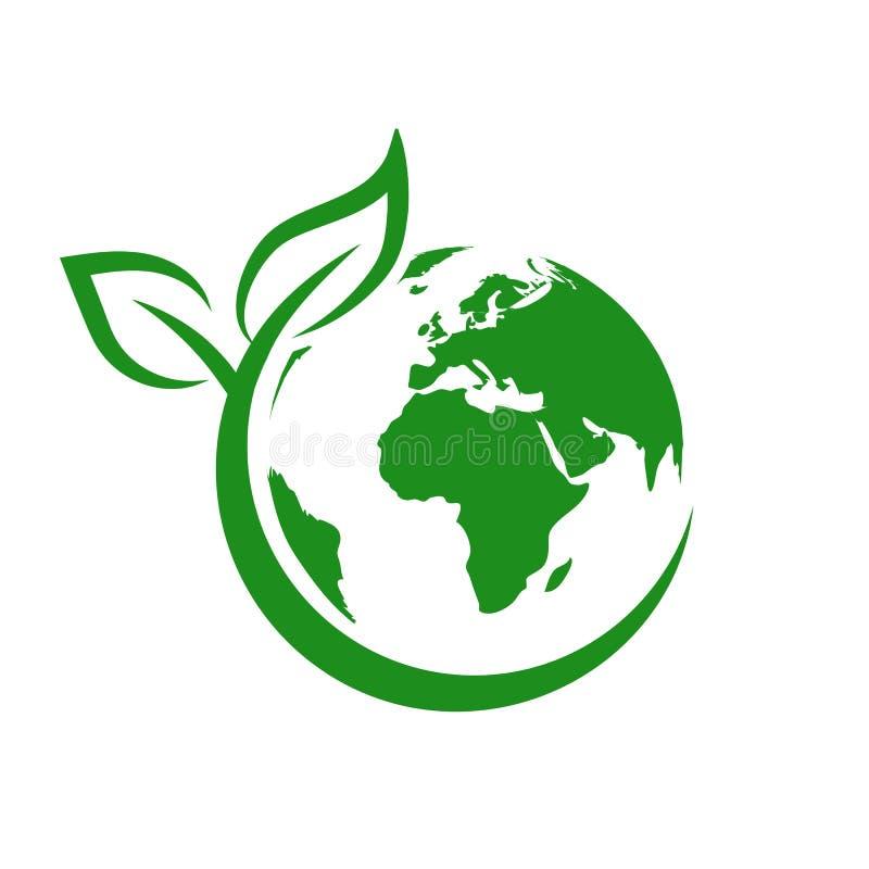 Tierra verde, Día Mundial del Medio Ambiente, concepto de salvar el planeta - vector de existencias ilustración del vector