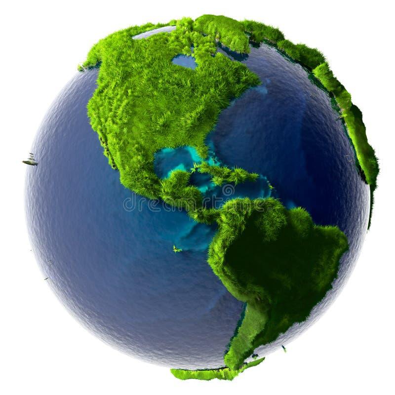 Tierra verde del planeta ilustración del vector