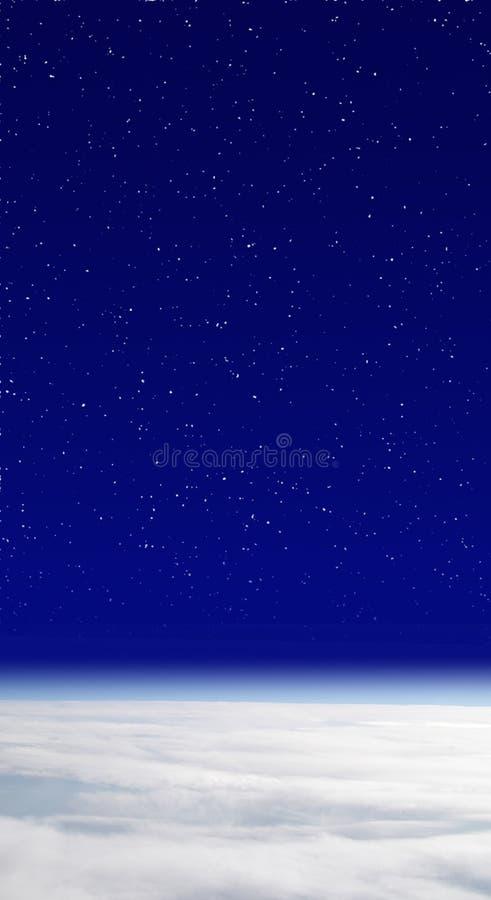 Tierra y cielo imagen de archivo
