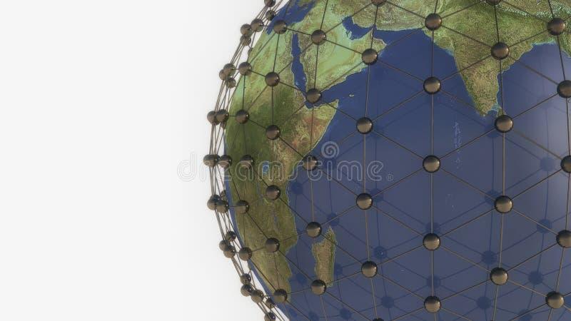Tierra y conexiones del planeta libre illustration