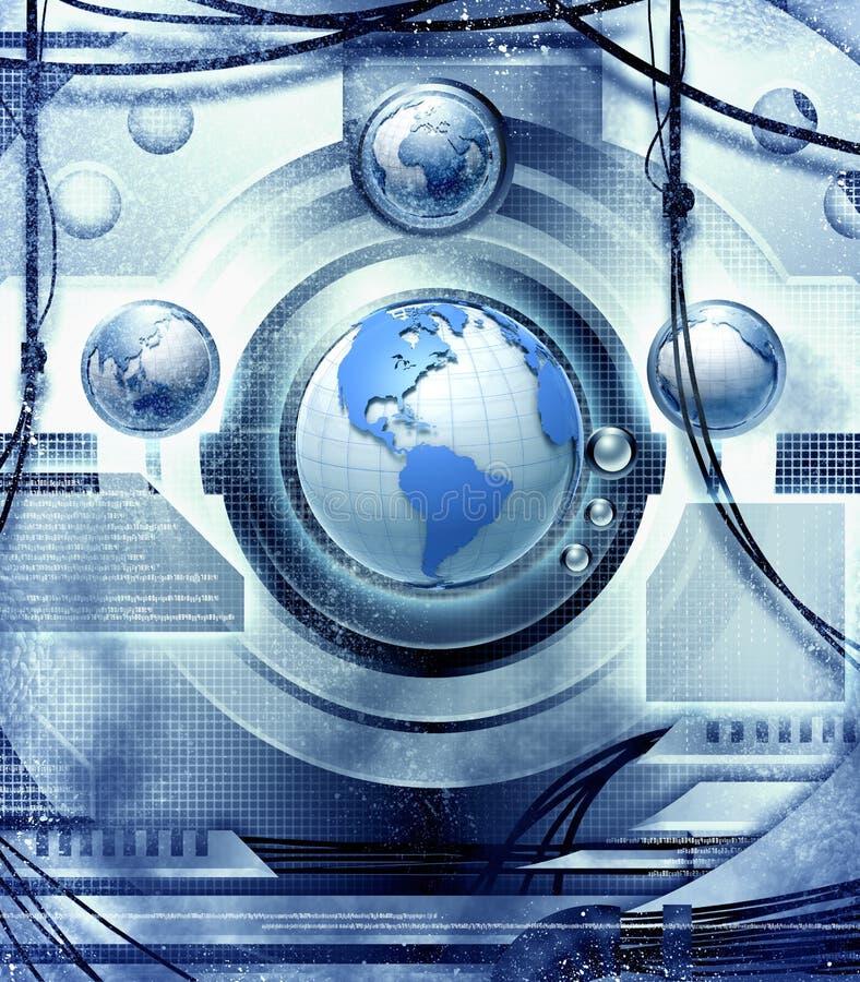 Tierra y tecnología stock de ilustración