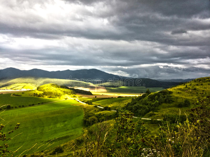 Tierras bajas de Eslovaquia imágenes de archivo libres de regalías