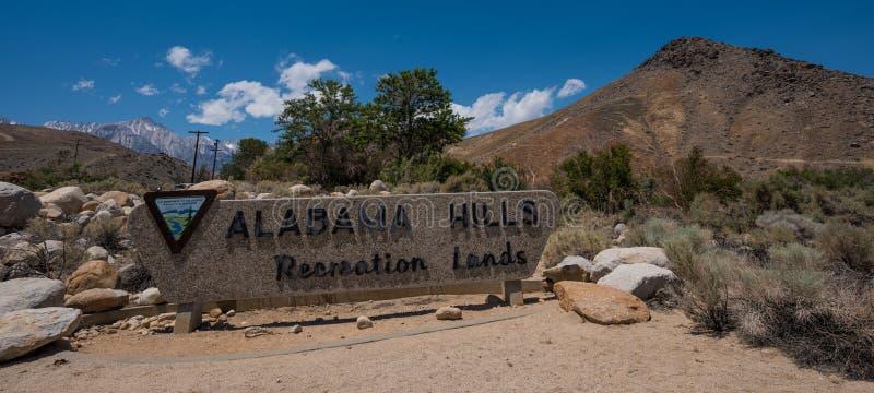 Tierras de la reconstrucción de las colinas de Alabama foto de archivo libre de regalías