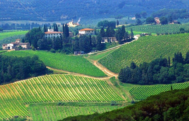 Tierras de labrantío de Toscana fotografía de archivo libre de regalías