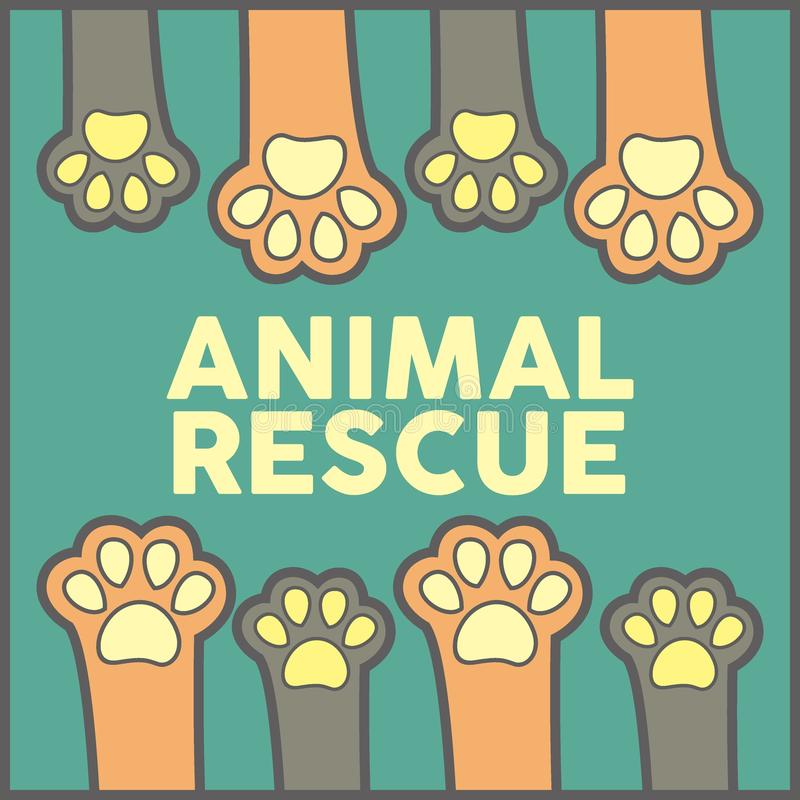 Tierrettungs-Illustrations-Vektor Art Logo lizenzfreie abbildung