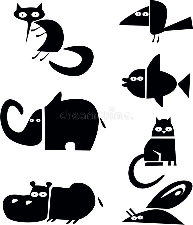 Tierschattenbilder vektor abbildung