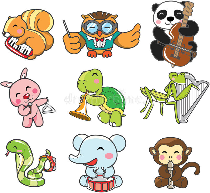 Tierspielmusik stock abbildung