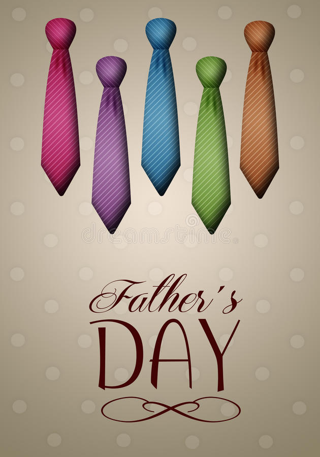 Ties for Father's Day stock illustration