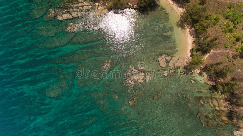 The tip of borneo. An aerial view Tip of Borneo,Kudat,Sabah,MALAYSIA royalty free stock photos