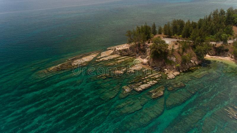 The tipof borneo. An aerial view Tip of Borneo,Kudat,Sabah,MALAYSIA stock photo