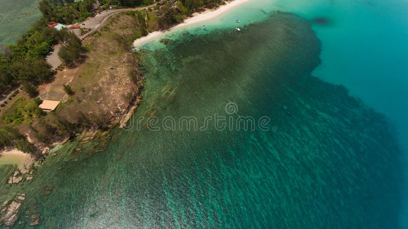 The tipof borneo. An aerial view Tip of Borneo,Kudat,Sabah,MALAYSIA stock image