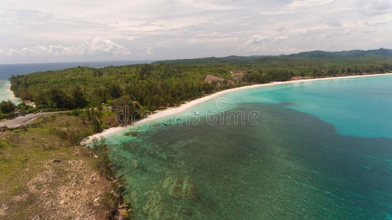 The tipof borneo. An aerial view Tip of Borneo,Kudat,Sabah,MALAYSIA royalty free stock photography