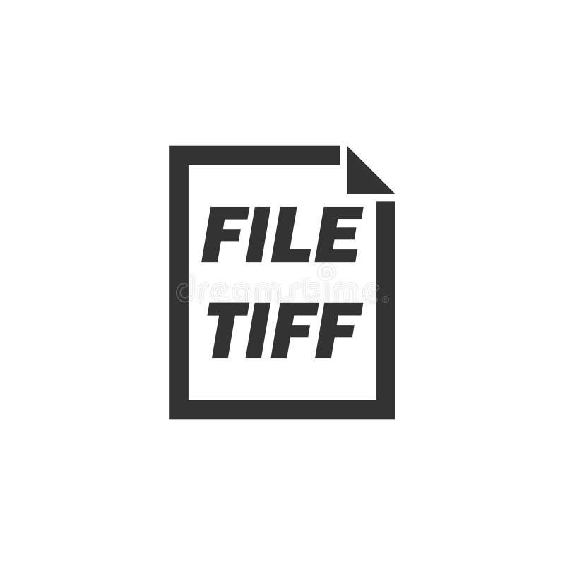 TIFF File icon flat vector illustration