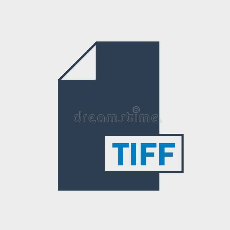 TIFF File format Icon stock illustration