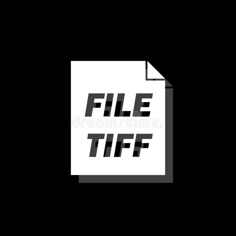 TIFF file icon flat stock illustration