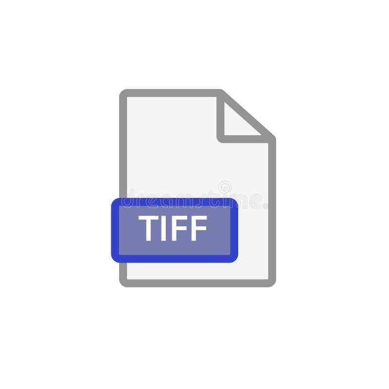 tiff file icon vector illustration
