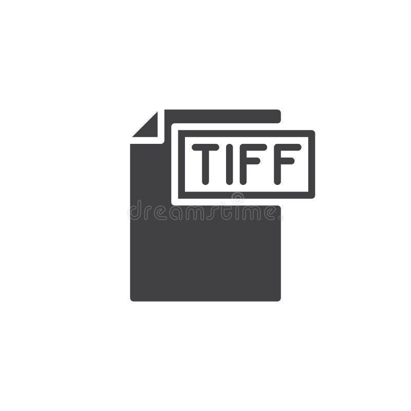 Tiff format document icon vector vector illustration